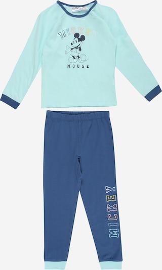 Cotton On Nachtkledij 'OSCAR' in de kleur Turquoise / Royal blue/koningsblauw / Geel / Wit, Productweergave