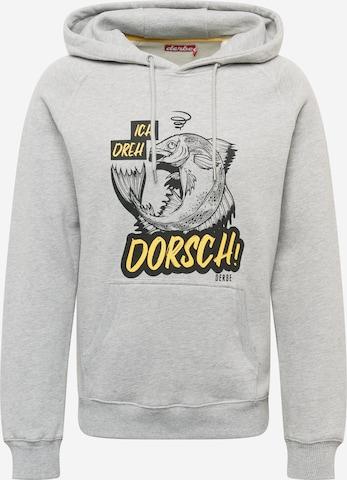 Derbe Sweatshirt 'Dorsch' in Grey