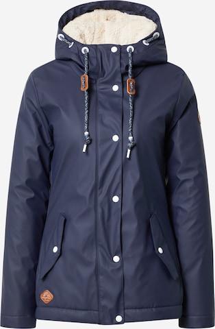 Ragwear Weatherproof jacket 'Marge' in Blue