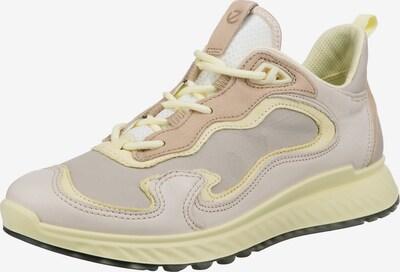 ECCO Sneaker in hellbraun / pastellgelb / helllila, Produktansicht