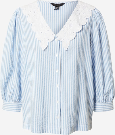 NEW LOOK Blouse 'SIENNA' in de kleur Lichtblauw / Wit, Productweergave