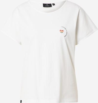 recolution T-Shirt 'ALOCASIA #MIND' in mischfarben / weiß, Produktansicht