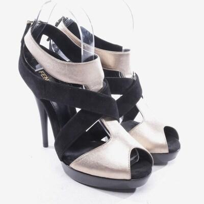 Fendi Sandaletten in 38,5 in gold / schwarz, Produktansicht