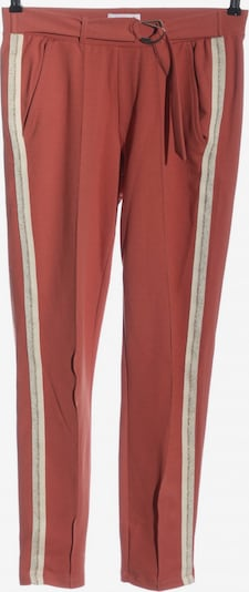 COTTON Club Stoffhose in S in creme / rot, Produktansicht