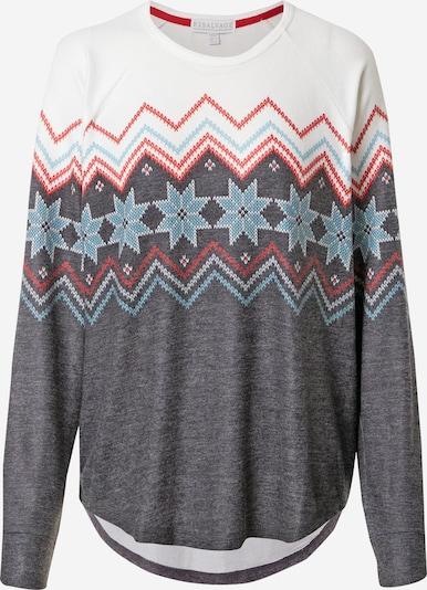 PJ Salvage Chemise de nuit en bleu clair / gris chiné / rouge / blanc, Vue avec produit