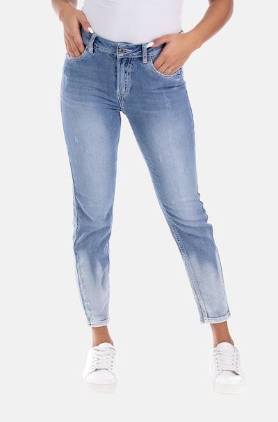 Blue Monkey Jeans in blue denim, Modelansicht