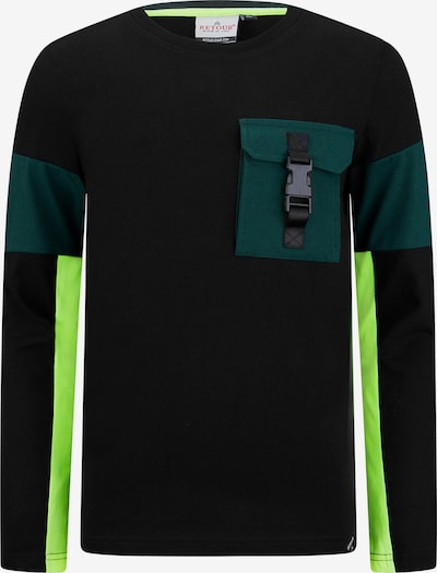 Retour Jeans T-Krekls 'Noud', krāsa - kaļķa / smaragda / melns, Preces skats