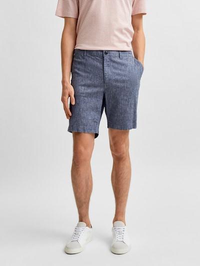 SELECTED HOMME Chino kalhoty 'Isac' - námořnická modř, Model/ka
