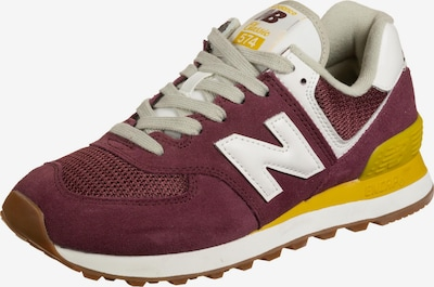 new balance Sneaker in senf / bordeaux / weiß, Produktansicht