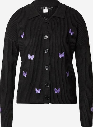 Daisy Street Gebreid vest 'Carlie' in de kleur Lila / Zwart, Productweergave