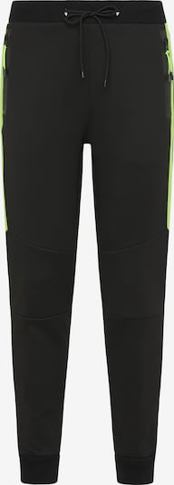 Pantaloni Mo SPORTS di colore verde chiaro / nero, Visualizzazione prodotti