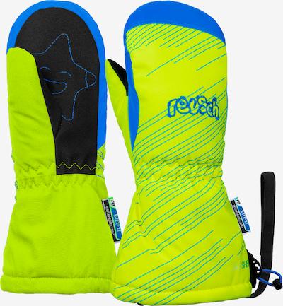 REUSCH Skihandschuhe 'Maxi' in blau / neongelb, Produktansicht