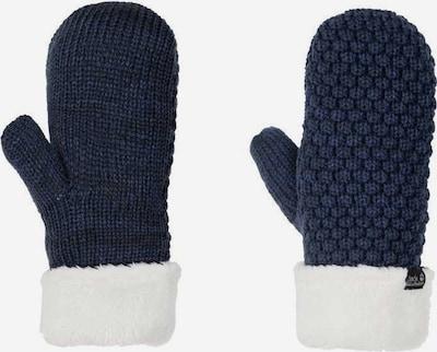 JACK WOLFSKIN Fingerhandschuhe in navy / weiß, Produktansicht