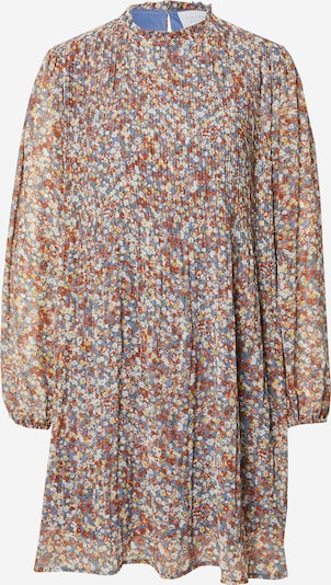 SISTERS POINT Kleid 'GAIDA' en rauchblau / rostbraun / gelb / weiß, Vue avec produit