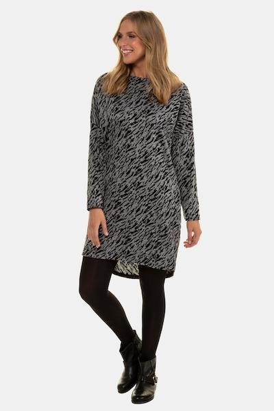 Gina Laura Kleid in grau / schwarz, Modelansicht