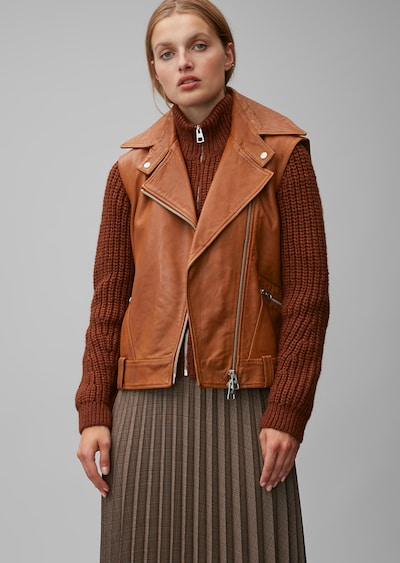 Marc O'Polo Weste in cognac, Modelansicht
