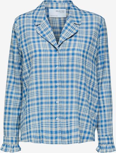 SELECTED FEMME Schlafshirt 'Piper' in himmelblau / wollweiß, Produktansicht