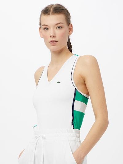 Lacoste Sport Top in grün / weiß: Frontalansicht