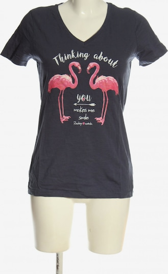 ROADSIGN Print-Shirt in S in hellgrau / pink, Produktansicht