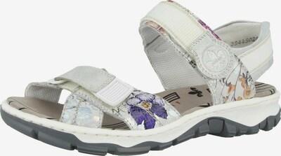 RIEKER Sandale in rostbraun / dunkelgrau / helllila / silber / offwhite, Produktansicht