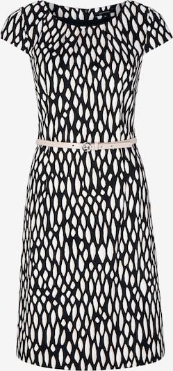 COMMA Robe en noir / blanc, Vue avec produit