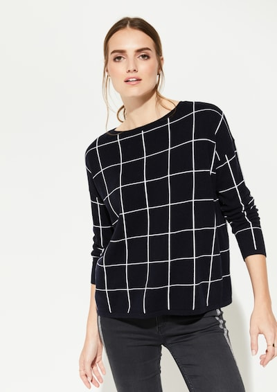 Ci comma casual identity Pullover in schwarz: Frontalansicht