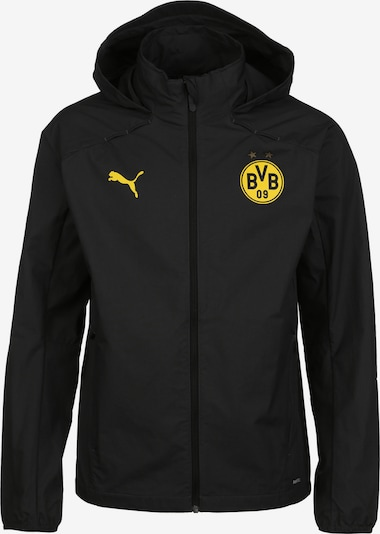PUMA Functionele jas 'Borussia Dortmund' in de kleur Geel / Zwart, Productweergave