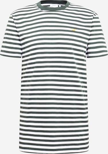 Cleptomanicx T-Shirt en vert foncé / blanc, Vue avec produit