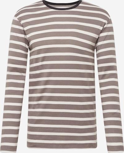 MADS NORGAARD COPENHAGEN Shirt 'Tobias' in grau / schwarz / weiß, Produktansicht