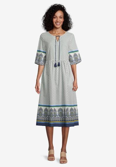 Vera Mont Robe en bleu / mélange de couleurs / blanc, Vue avec modèle