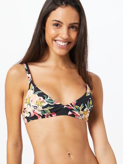 ROXY Bikinitop 'GARDEN' in hellbeige / grasgrün / grenadine / schwarz, Modelansicht