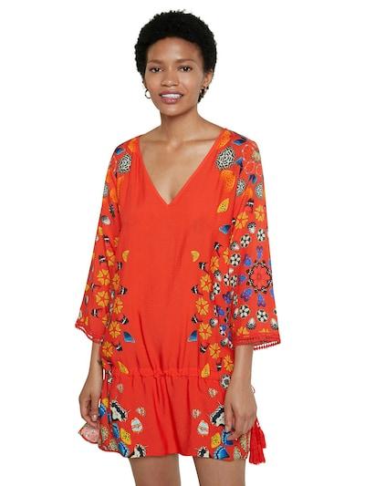 kék / sötétsárga / sötétlila / piros / fehér Desigual Nyári ruhák 'MAUI', Modell nézet