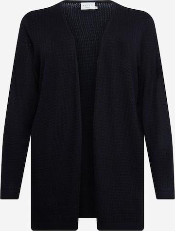 KAFFE CURVE Плетена жилетка 'Henry' в черно