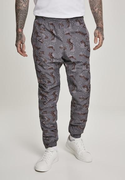 Kelnės iš Urban Classics , spalva - tamsiai ruda / akmens / šviesiai pilka / juoda / balta, Modelio vaizdas