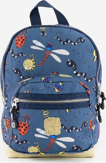 Pick & Pack Rucksack 'Insect' in blau / dunkelblau / rot / weiß, Produktansicht