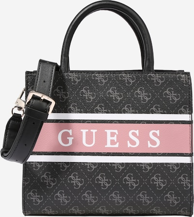 GUESS Handbag 'Monique' in grey / pink / black / white, Item view