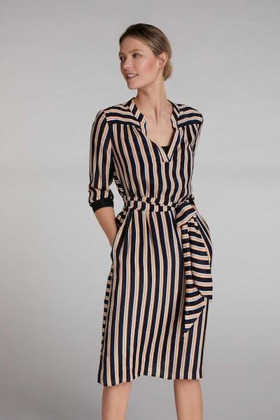 OUI Blusenkleid in dunkelgelb / schwarz / weiß, Modelansicht