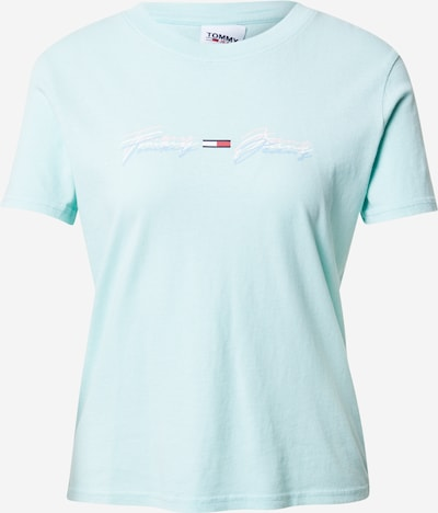 Tricou Tommy Jeans pe bleumarin / albastru aqua / roșu / alb, Vizualizare produs