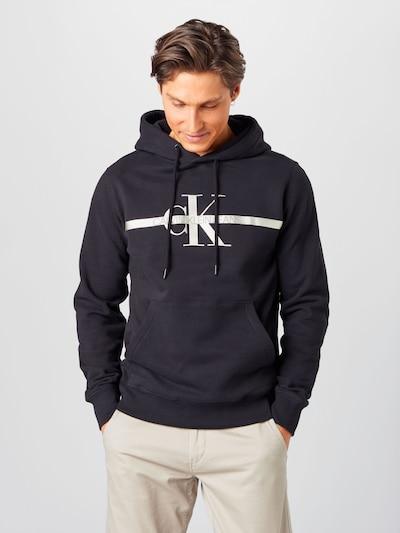 Calvin Klein Jeans Sweater majica u siva / crna / bijela: Prednji pogled