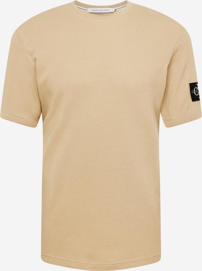 Calvin Klein Jeans T-Shirt in hellbeige / schwarz / weiß, Produktansicht