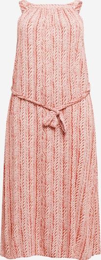 ONLY Carmakoma Robe d'été 'CARTRIB' en rouge orangé / blanc, Vue avec produit