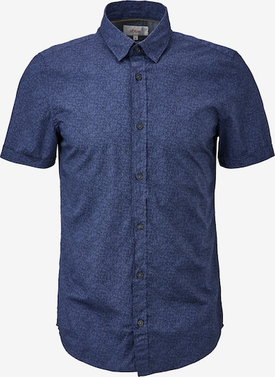 s.Oliver Hemd in taubenblau / dunkelblau, Produktansicht