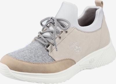 Sneaker low RIEKER pe culoarea pielii / nisipiu / gri amestecat / alb, Vizualizare produs