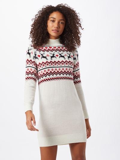 Fashion Union Kleid 'Reindeer' in rot / weiß, Modelansicht