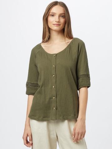 EDC BY ESPRIT Bluse i grønn