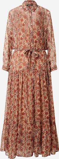 Mes Demoiselles Košulja haljina u svijetlobež / grafit siva / tamno narančasta / pastelno crvena, Pregled proizvoda