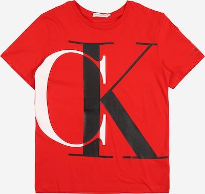 Calvin Klein Jeans Shirt in rot / schwarz / weiß, Produktansicht