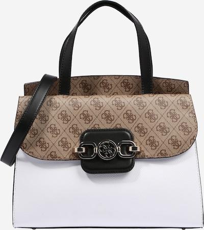 GUESS Tasche 'HENSELY' in creme / braun / weiß, Produktansicht
