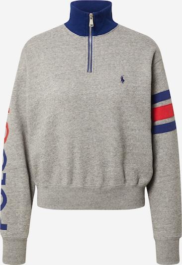 Polo Ralph Lauren Sweat-shirt en bleu foncé / gris foncé / rouge, Vue avec produit