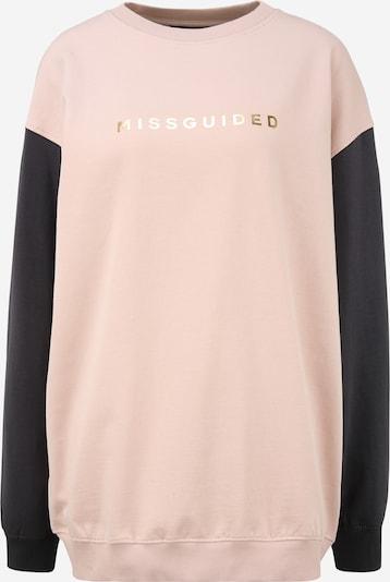 Missguided (Tall) Sweatshirt in de kleur Poederroze / Zwart, Productweergave